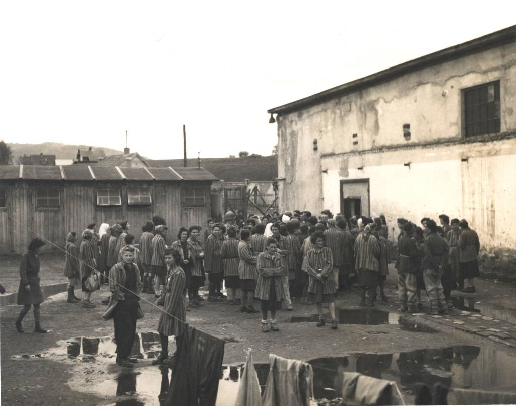 Female prisoners after the liberation of the Lenzing camp, May 1945 (photo credits: US Holocaust Memorial Museum)