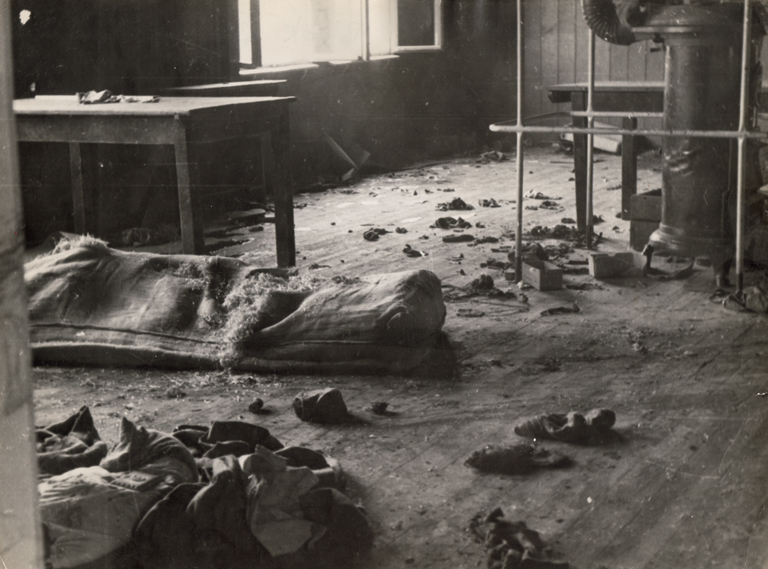 Interior of Block 20, 2. Februar 1945 (photo credits: Mauthausen Memorial / Collections)