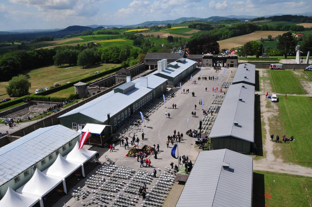 Aerial view of the Liberation Ceremony 2015 (photo credits: Mauthausen Memorial / Stephan Matyus)