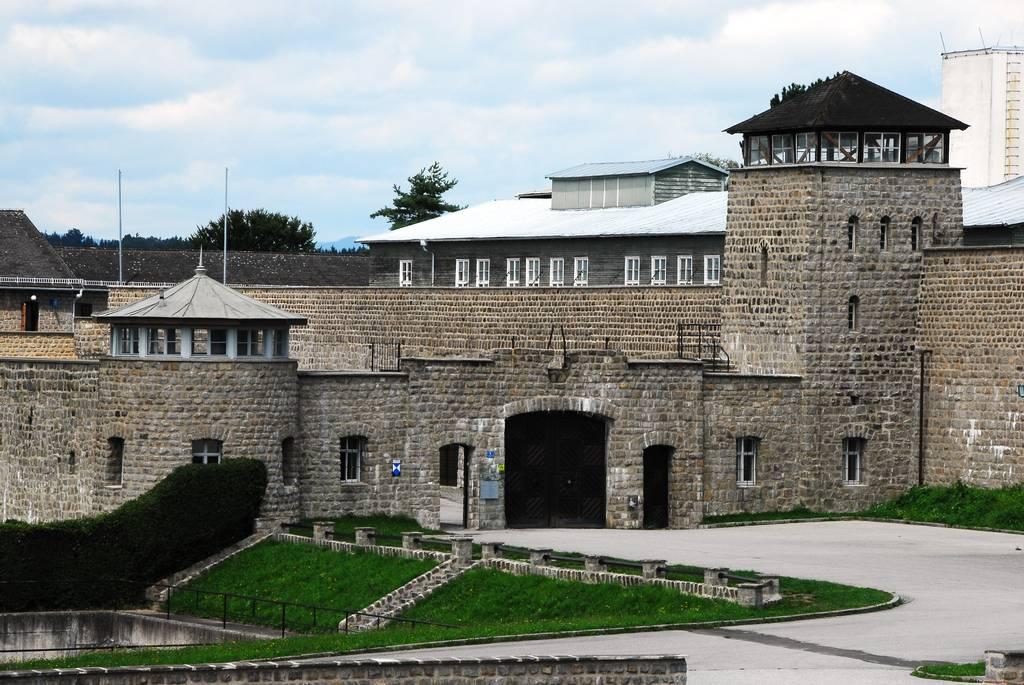 Dutch monument at the Mauthausen Memorial has been daubed