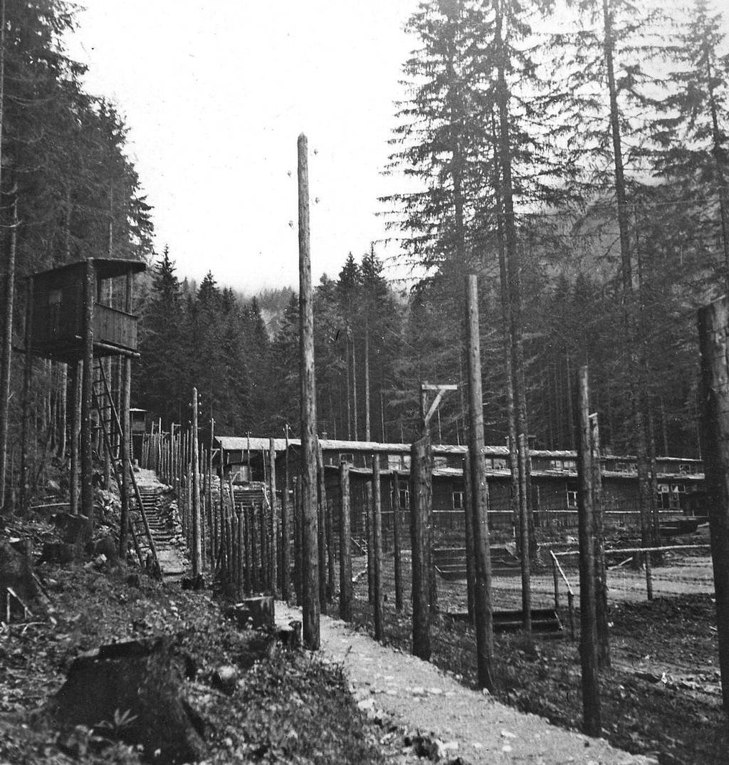 The Northern Loibl camp after liberation, 26 May 1945 (Photo: British Army, Landry, KZ-Gedenkstätte Mauthausen, Collection Janko Tišler)