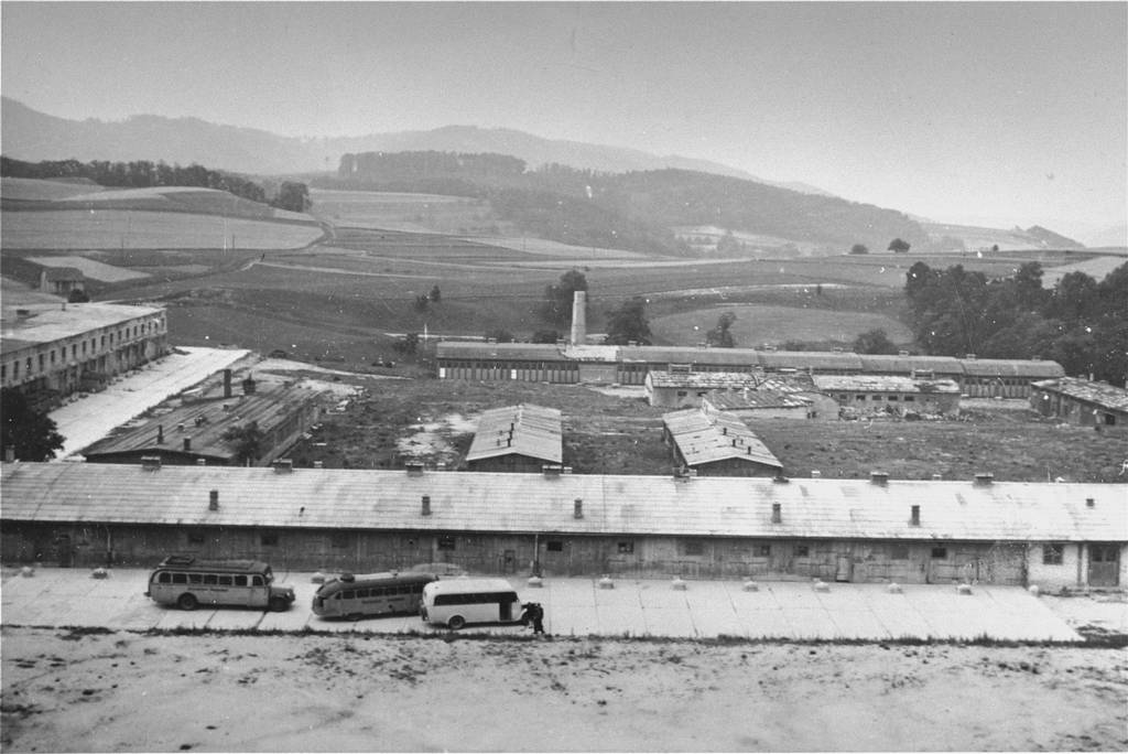 The former subcamp in Melk, January 1948 (Unknown photographer, USHMM)