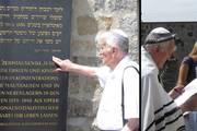 Visit by Moshe Porat, a survivor of the Mauthausen concentration camp (photo credits: Mauthausen Memorial)
