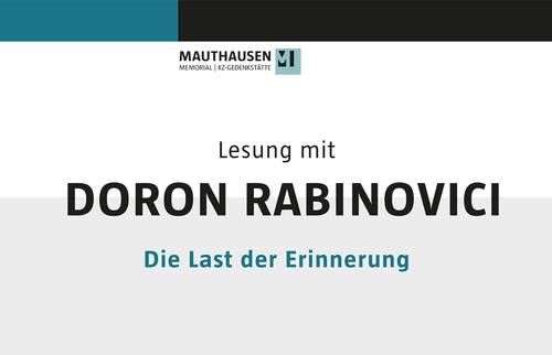 Reading with Doron Rabinovici – The Burden of Memory (in German language)