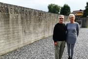 Visit by Johannes Dobbek an his wife at the Mauthausen and Gusen Memorial (photo credits: Mauthausen Memorial)