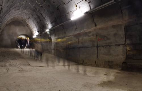 "Visits to the ""Bergkristall"" tunnel system"